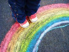 Sidewalk chalk would be an easy activity for the kiddos if the weather is nice.