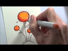 Lostinpaper - 'Enjoy' another Copic colouring video at Purple Onion Designs!