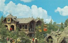 Disneyland Fantasyland Skyway Station Postcard by Drive-In Mike, via Flickr ... wish they would do something with that old building. It really is beautiful.