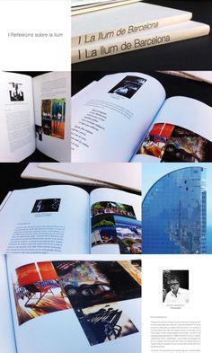 Diseño y maquinación del libro la Llum de Barcelona.