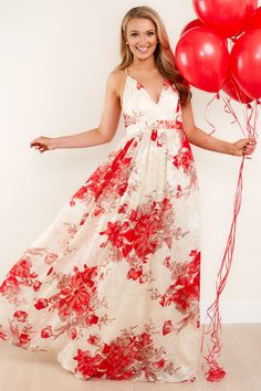 a5e756ad43 In Every Moment Ivory Floral Print Maxi Dress
