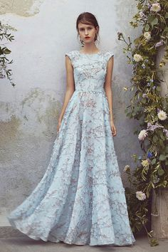 Get inspired and discover Luisa Beccaria trunkshow! Shop the latest Luisa Beccaria collection at Moda Operandi. Day Dresses, Prom Dresses, Dresses With Sleeves, Wedding Dresses, Elegant Dresses, Pretty Dresses, Luisa Beccaria, Halston Heritage, Beautiful Gowns