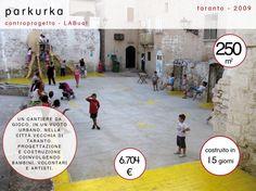 Parkurka, Taranto, 2009 - EmptyLess, quando il vuoto diventa spazio pubblico