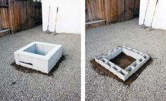 Cinder Block Fire Pit Diy Concrete Block Fire Pit How To Build A Cinder Block Firepit