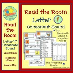 "This is a fun way to have students recognize and learn to distinguish where they hear the letter ""f"" consonant sound (at the beginning, middle or end of a word).  Used as a literacy station, printed cards on cardstock can be placed around the room at students height."