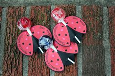 Personalized Lady Bug Lollipop Party Favors- Printable. $8.00, via Etsy.