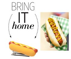 """""""Bring It Home: Hot Dog Stapler"""" by polyvore-editorial ❤ liked on Polyvore featuring interior, interiors, interior design, home, home decor, interior decorating and bringithome"""