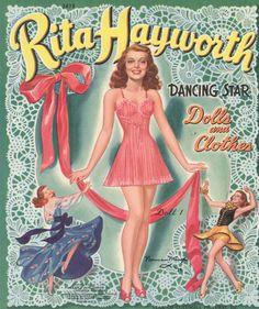 1940s Rita Hayworth Paper Dolls