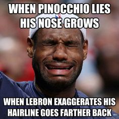 funny lebron hairline memes - Google Search