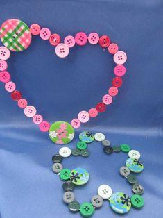 Herz-Anhänger mit Knöpfen - Geschenke Muttertag und Valentinstag