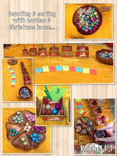 """Counting & sorting with baubles & Christmas boxes - from Rachel ("""",)"""