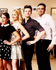 Lea Michele, Dianna Agron, Chris Colfer and Mark Salling