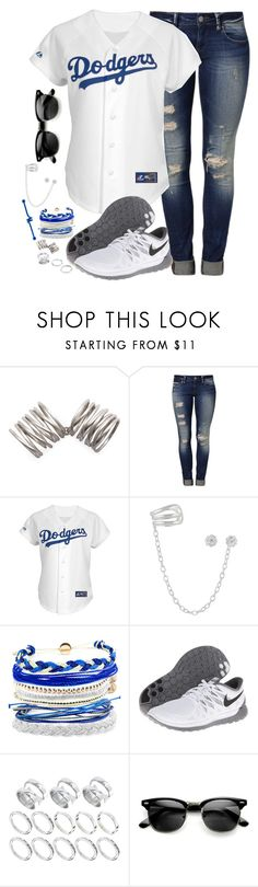 """""""Stand up we are united in the eyes of the greatest storm"""" by rocketsheep ❤ liked on Polyvore featuring Kelly Wearstler, Mavi, Domo Beads, NIKE, ASOS, lyrics, BLACKVEILBRIDES, nike and dodgers"""