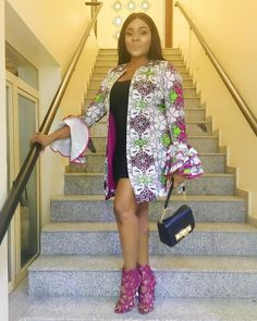 2017 Trending Ankara Jacket Styles You Will Definitely Love - Wedding Digest Naija African Print Dresses, African Fashion Dresses, African Dress, Ankara Fashion, African Clothes, African Attire, African Wear, African Women, African Style
