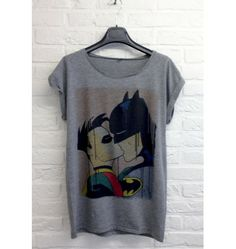 T-shirt gris Batman Robin - Madametshirt.com