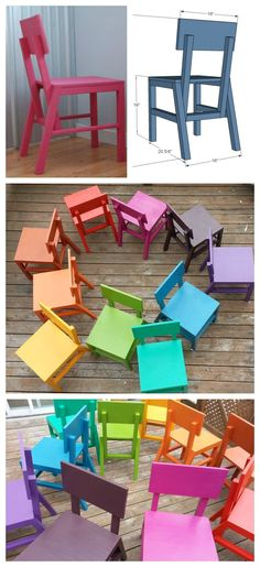 diy modern chairs easy to build free plans by ana-white.com