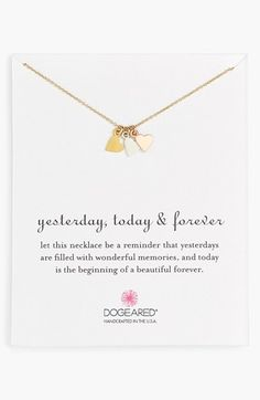 Dogeared+'Yesterday,+Today,+Forever'+Boxed+Charm+Necklace+available+at+#Nordstrom