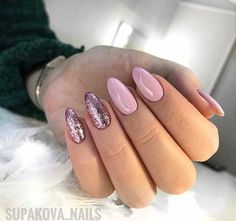 Make an original manicure for Valentine's Day - My Nails Plum Nails, Sparkle Nails, Pastel Nails, Shellac Nails, Pedicure Nails, Acrylic Nails, Chic Nails, Trendy Nails, Nail Candy