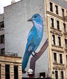 Street Art NYC –> the latest from New York's street art scene featuring street art photography, street artist interviews and street art gallery news. Stencil Street Art, Murals Street Art, Bird Street Art, Kobra Street Art, New York Street Art, Street Art News, Urban Street Art, New York Art, Street Art Graffiti