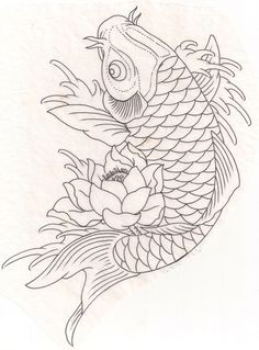 Koi fish with lotus need as part of the other tattoo! Fish red and orange for love of Kelli and my hubby! And the koi going upstream for over coming obstacles in life and love and the lotus flower for strength Japanese Koi Fish Tattoo, Koi Fish Drawing, Fish Drawings, Tattoo Drawings, Art Drawings, Japanese Tattoos, Owl Tattoos, Sleeve Tattoos, Space Tattoos