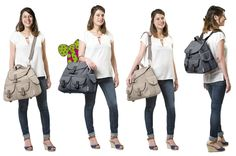 Sac à langer Street Style Babymoov : 4 modes de portages http://produits-puericulture.babymoov.fr/sac-a-langer-street-style.html