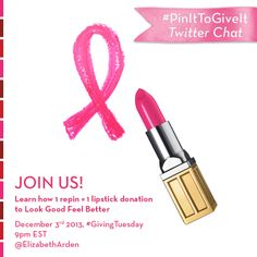 It's #GivingTuesday! Join our Twitter chat tonight at 9PM ET using #PinItToGiveIt & learn how you can help give back.