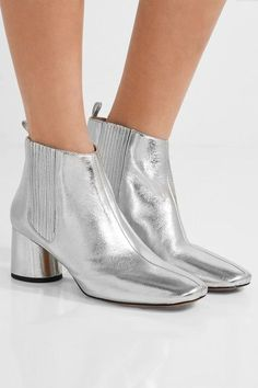 Marc Jacobs - Rocket Metallic Leather Chelsea Boots - Silver - IT36.5