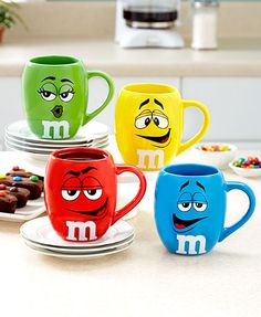 The M&M's Oversized Barrel Mug allows you to enjoy a delicious beverage with some of your favorite candies. This 19 oz. ceramic mug is perfect for serving up a large helping of coffee, tea or hot chocolate. Its brightly colored design features artwork of Mugs Set, Tea Mugs, Low Acid Coffee, M&m Characters, Chocolate Mugs, Cute Christmas Gifts, Cool Mugs, Favorite Candy, Stoneware Mugs
