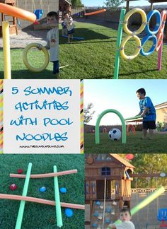 5 Summer Pool Noodle Activities - Your kids will love these Pool Noodle games and activities.