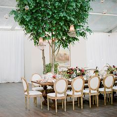 Indoor garden for fall/winter weddings  Those getting married during fall or winter can bring in bits of the outdoors with potted trees and full flower arrangements.
