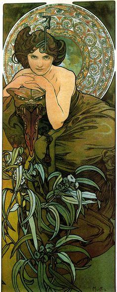 ALPHONSE MUCHA - L'EMERAUDE/EMERALD (1900)
