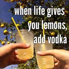when life gives you lemons,                 add vodka (okay I will...)