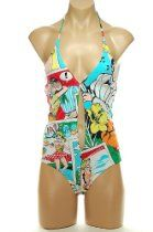Dolce & Gabbana One-Piece Swimsuit Multi-color Cartoon print KR59 Size 4