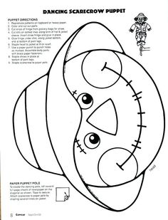nice Halloween Coloring Pages Elementary School, Good Halloween Coloring Pages Elementary School - posted on 24 October can also take a look at other pics below! Scarecrow Face, Scarecrow Crafts, Fall Scarecrows, Halloween Activities, Autumn Activities, Enrichment Activities, Halloween Coloring Pages, Coloring Pages For Kids, Scarecrow Coloring Pages Free Printable