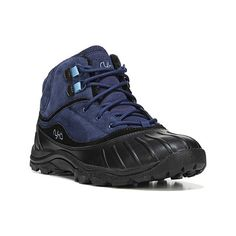 Women's Ryka Mallory Boot - Navy/Black/Blue Casual (100 CAD) ❤ liked on Polyvore featuring shoes, boots, casual, winter boots, black rubber boots, ryka shoes, black boots, navy blue shoes and black rubber shoes