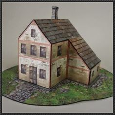 An European House Free Building Paper Model Download - http://www.papercraftsquare.com/european-house-free-building-paper-model-download.html