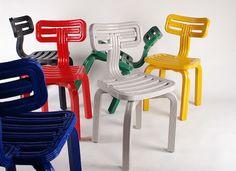 3D Printed Chubby Chairs by Dirk Van Der Kooij at 19 Greek Street