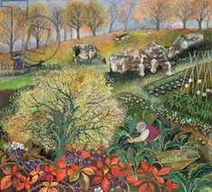 Lisa Jensen, George's Allotment (ink and gouache on paper)