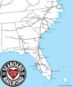 Www American Rails Com Images Seaboard Airline Railroad Map