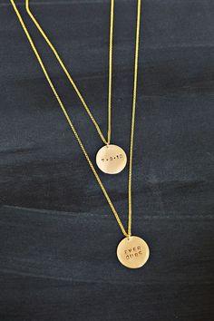 DIY hand stamp necklace