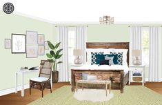 Eclectic, Bohemian, Preppy Bedroom Design by Havenly Interior Designer Pamela Preppy Bedroom, Design Process, Sweet Home, Gallery Wall, Interior Design, Inspiration, Home Decor, Nest Design, Biblical Inspiration