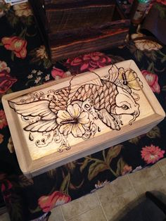 Pallet wood & wood burned box
