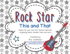 Rock Star (This and That) Classroom Theme