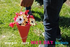 Simple and easy may day baskets from Rage against the Minivan