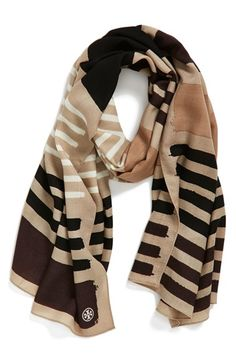 Tory+Burch+Stripe+Wool+Scarf+available+at+#Nordstrom