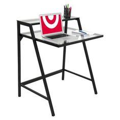 Lumisource 2-Tier Desk - Black/Clear