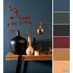 Paleta de colores colores en 2019 paint color palettes, color schemes y hou Bedroom Color Schemes, Bedroom Colors, Bedroom Ideas, Hallway Colour Schemes, Apartment Color Schemes, Brown Color Schemes, Colorful Decor, Colorful Interiors, Decoration Shabby