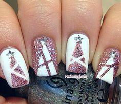 #Nagel #Design #Weihnachten #Weihnachtsbaum #Glamour