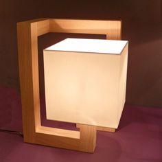 Resultado de imagen de lamparas madera aplique mesita noche