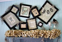 Google Image Result for http://ecosalon.com/wp-content/uploads/6_halloween-mantel-ideas.jpeg  Halloween Shabby Chic mantle